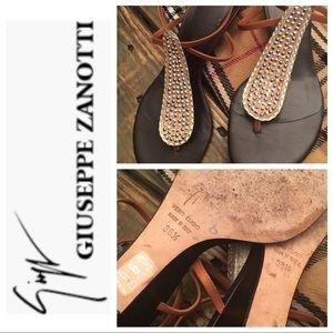 Giuseppe Zanotti Vero Cuoio Sparkle Sandals